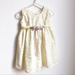 Jon's Michelle yellow special occasion dress. 2T